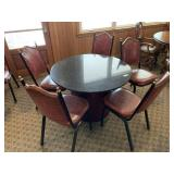Round Pedestal Table With 5 Chairs