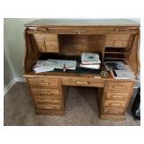Contemporary Oak Roll Top Desk