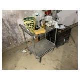 Rolling Cart, Hose Reel, & Hand Tools