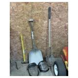 Welding Masks, Shovel, & Sledge Hammer