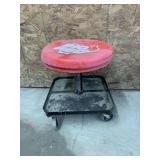 Rolling Shop Stool & Tire Iron