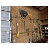 Shovels, Brooms, Rakes, & Misc.