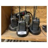 4 Two-Way Radios W/ Chargers