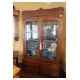 Beautiful Antique Glass Door Display Cabinet