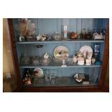 3 Shelves of Glassware, China, & Misc.