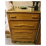 4 Drawer Chest, Night Stand& Misc.