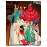 Vintage Case of Barbie Dolls