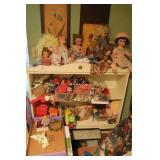 Book Shelf of Toys & Dolls
