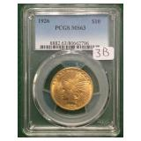 1926 Gold PCGS MS63 $10