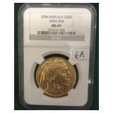 2006 Gold $50 Buffalo