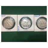 3- Silver Half Dollars