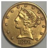 1886-S Gold $2.50