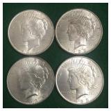 4- 1923 Silver Peace Dollars