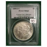 1890-CC PCGS MS63 Silver Morgan Dollar