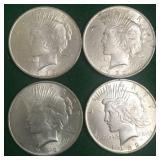 4- 1922 Silver Peace Dollars