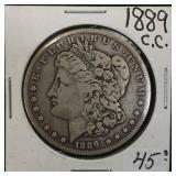 1889-CC Silver Morgan Dollar