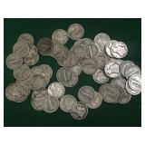 64- Silver Mercury Dimes, Mixed Dates