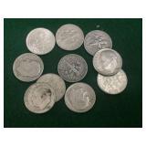 10- 1955 Silver Roosevelt Dimes