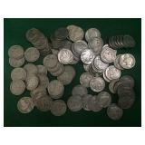 80- Buffalo Nickels, Various Dates
