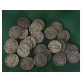 25- War Nickels, Various Dates