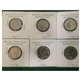 6- Uncirculated Jefferson Nickels