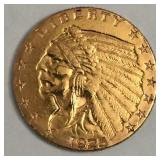 1925-D Gold Indian Head $2.50