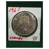 1961 Canadian Silver Dollar