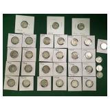 21- Silver Mercury Dimes
