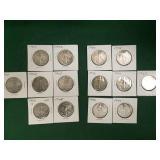 14 Silver Half Dollars