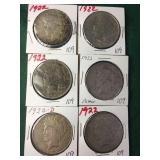 6- Silver Peace Dollars