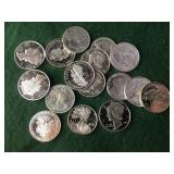17- 1/10 Troy oz Silver Rounds