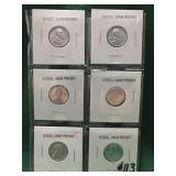 6- 1943 Steel War Pennies