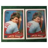 2- 1989 Pete Rose Manager Checkoff Cards