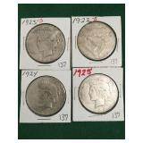 4- Silver Peace Dollars