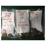 150 Lincoln Cents, Assorted Dates