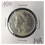 1900 Silver Morgan Dollar