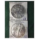 2- 2016 Silver American Eagle Dollars