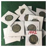 14- Silver Mercury Dimes
