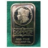 1 oz Copper Bar