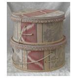 2- Damask Hat Boxes