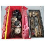 Assorted Drill Bits w/ Toolbox