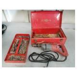 Milwaukee Hammer Drill w/ Drill Bits