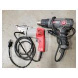 Milwaukee Power Shears and Porter Cable Heat Gun