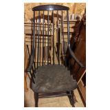 Black Wooden Rocking Chair