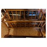 Vintage Wooden Doll Crib