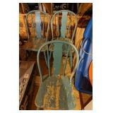 Blue Wooden Chairs