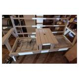 White Wooden Patio Chair