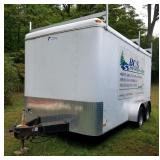 Pace American Dual Axle Gutter Fabricating Trailer