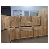 Woodland Birch 11pc Hardwood Kitchen Cabinet Set