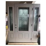 Decorative Entrance Door w/ Sidelights 36x80 LH